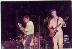 with South Wave opening for Dr. Feelgood at Lagos, Bullring Summer of 1983