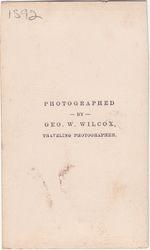 Geo. W. Wilcox, Traveling Photograper - back