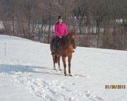 Heather & Dottie in the field