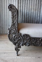 SOLD #26/168 FRENCH SLEIGH BED DETAIL SOLDSOLD