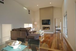 Living area timber flooring