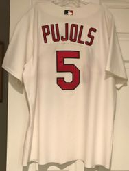 Albert Pujols 2003 St Louis Cardinals Game Worn Used Worn Majestic Home White Jersey