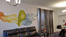 abstract indoor mural