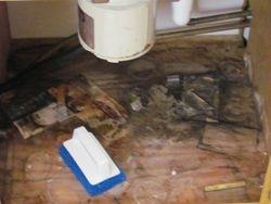Kitchen Cabinet Under Sink (before)