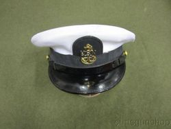 White Naval NCO's Visor Cap #3: