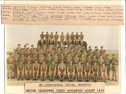 40 Commando MT Troop Singapore 1971