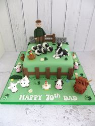 70th Birthday Farming Cake