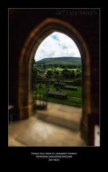 Pendle Hill from St. Leonards Church Downham-Lancashire-England