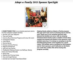 Adopt a family ( Xmas 2015)