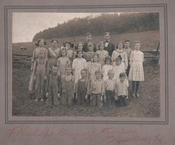 Philip Garner with his class at the Grafton School