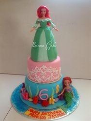 Ariel Themed Cake 3 (B094)