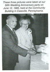 H. Clair and Evadene (Stever) Colbert on their 50th Wedding Anniversary
