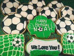 Birthday Cookies Soccer Theme
