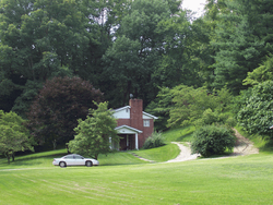 Brick in summer, landscape