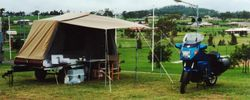 Tom's K75RT at 1995 AGM Toowoomba campsite - Mar 1995