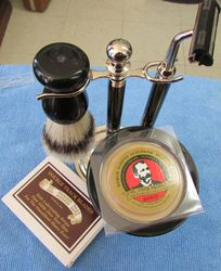 Black and Chrome Shave Set