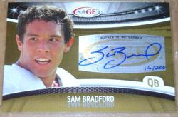 Sam Bradford 2010 Sage Rookie Autograph 14/200 !!