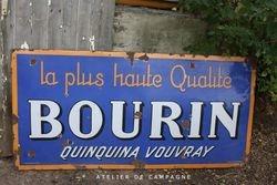 #20/067 Enamel Sign Bourin