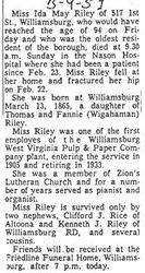 Riley, Ida M. 1959
