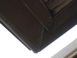 Leaks on gutters causing damage