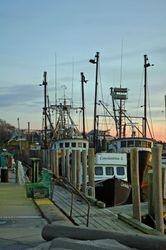Sunset on the pier at Menemsha II