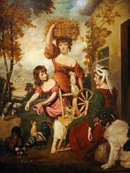 Reynolds, Upper Class Women Dressing up as Cottagers, 1788, Detroit