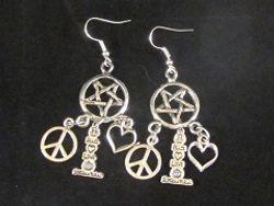 Peace, Love, Supernatural Earrings