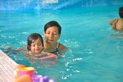 babies swimming