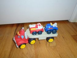 Small Truck Hauler with 2 Trucks - $5