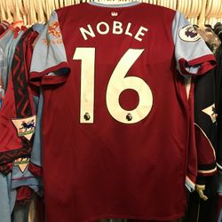 Captain Mark Noble 2019/20 worn and signed poppy shirt