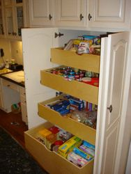 Custom Built Pantry With Roll-Outs