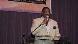 Rev. Palmer, pastor of Mt Rose Full Gospel Baptist Church