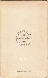Scholfield, photographer, of Westerly, RI  - back