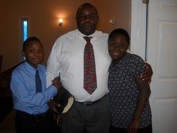 Bro. Haynes with Tyra and Tyreese