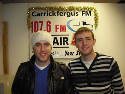 Local musician Gareth Brannigan with Michael
