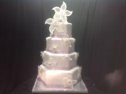 lattice flower Cake
