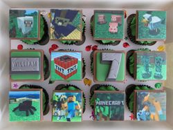Minecraft Birthday Cupcakes