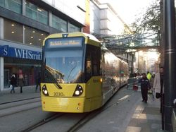 #3030 preparing to depart Exchange Square for Rochdale.