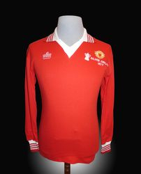 Man Utd Player issue spare shirt for 1977 FA cup Final
