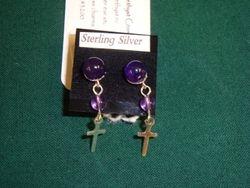 Amethyst Cross (Item #3200) $12.00