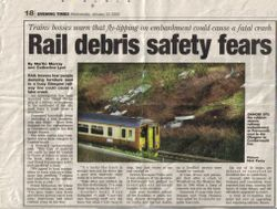RAIL DEBRIS SAFETY FEARS:
