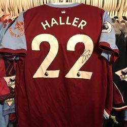 Sebastien Haller worn 2019/20 signed poppy shirt