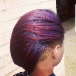 Purple w/Red Highlights
