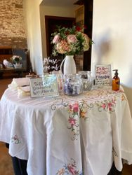 Special family linens add to the memories