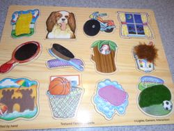 Melissa & Doug Textured Familiar Objects Puzzle - $10