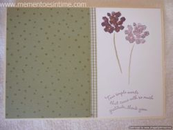 'Two Simple Words' Thank You Card
