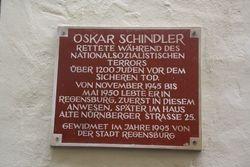 Schlinder plaque in Regensburg