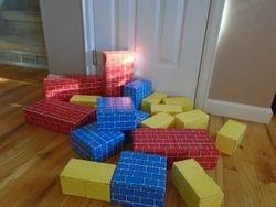 Melissa & Doug Deluxe Jumbo Cardboard Blocks (19 pc) - $12