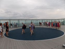 Legend on a helicopter pad