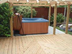 Decking and gazebo